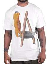 Dissizit! LA Blunt Box Cutter Utility Knife Los Angeles White T-Shirt NWT