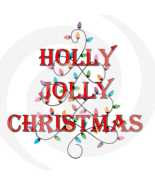 Holly Jolly Christmas Font 4smp-Digital ClipArt-Gift Tag-T shirt-Jewelry... - $2.50