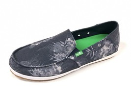 Sanuk Mens Casa Funk Navy Grey Amazon Tropic Slip On Loafer Shoe Sidewalk Surfer - $39.99