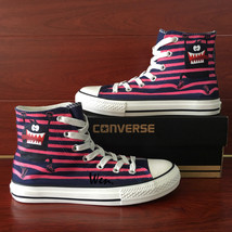 Fashion Converse Hand Painted Shoes Cartoon Monster Stripes Canvas Sneakers - $159.00