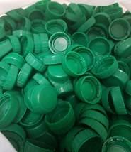 Lots of 150 Dark Green Plastic Bottle Caps Clean Craft Supplies school p... - $14.69