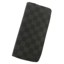 LOUIS VUITTON Zippy Wallet Vertical Damier Canvas Graphite N63095 Men's ... - $824.35