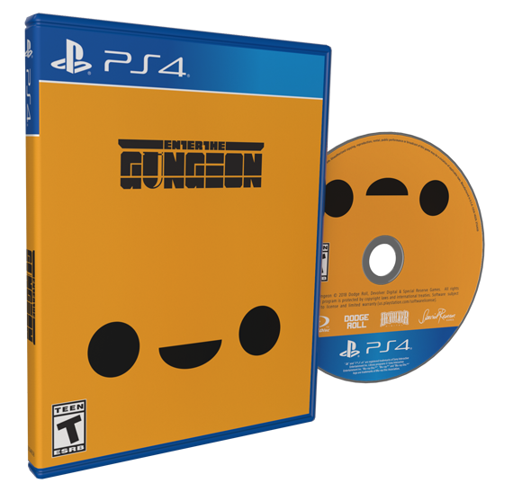 Primary image for Enter The Gungeon PS4 Sony Playstation 4 Reversible Cover + KIN USA Region Free