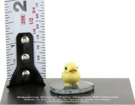 Stepping Stones Fairy Garden Miniature Baby Chick on Sliced Quartz Base #2716 image 2