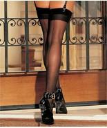 Shirley of Hollywood BLACK Sheer Back Seam Stockings, US One Size - $8.91