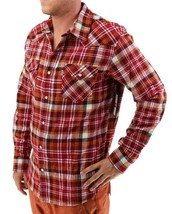 NEW LEVI'S MEN'S CLASSIC LONG SLEEVE BUTTON UP SHIRT PLAID RED 3LYLW0062C image 2