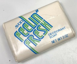 Vintage Avon Feelin Fresh Deodorant Soap Bar 3 Ounce Original Packaging ... - $9.89
