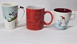 STARBUCKS COFFEE CO. MIXED LOT (3) HOLIDAY 2007 - 2015 CUPS/MUGS NEW BON... - $60.37