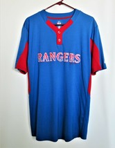 Majestic Texas Rangers MLB Batting Jersey Baseball Pullover Mens Large Cool Base - $27.72