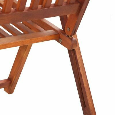 vidaXL 2x Acacia Wood Outdoor Dining Chair Home Kitchen Furniture Seat Dinner image 6