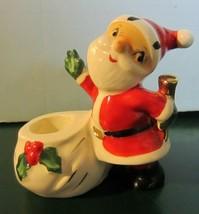 Vintage Holt Howard Santa candle holder - $12.30