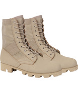 "Desert Tan Panama Sole Combat Boots Military 8"" Tactical Jungle Boots - $37.99"