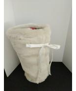 Pottery Barn Faux Fur Wine Liquor Bottle Gift Bag New w/o tags - $19.75