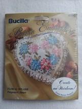"NEW Bucilla Ribbon Embroidery Kit Floral Splash Potpourri Heart 3""x3"" 41... - $9.99"