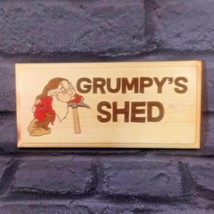 Grumpys Shed Sign, Grumpy Grandad Workshop Plaque Dad Garage Fathers Day... - $13.17