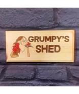 Grumpys Shed Sign, Grumpy Grandad Workshop Plaque Dad Garage Fathers Day... - $13.17