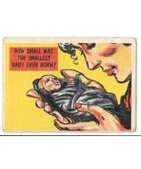 Isolation Booth Trading Card #84 Topps 1957 How Small Was The Smallest B... - $3.50