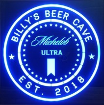 Michelob Ultra Beer LED Sign Personalized, Home bar pub Sign, Lighted Sign - $65.00