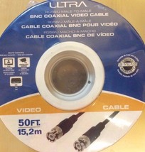 Ultra - U12-4163 - 50FT Male-To-Male BNC Coaxial Video Cable - 30.5m, 24... - $12.82