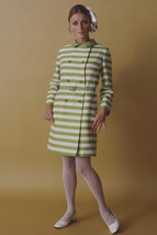 Sharon Tate in striped outfit classic studio pose 18x24 Poster - $23.99