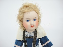 Antique Bisque Socket Head Doll w Composition Body Jointed Made in France - $98.99