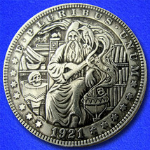 "Merlin ""Hobo Nickel"" on Morgan Dollar Coin ** - $4.79"