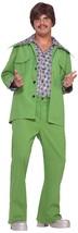Green Leisure Suit 70's Disco Retro Dad Fancy Dress Up Halloween Adult C... - $55.53