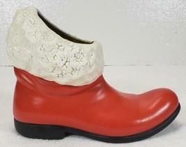 Vintage Ceramic Santa Boot Atlantic Mold 1965 Kitsch  - $17.99