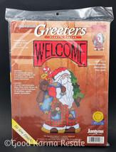 Janlynn Sugarplum Greeters Santa Welcome SGP1426 Plastic Canvas Needlepoint Kit - $26.00