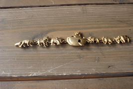 Vintage AJC Noahs Ark Bracelet Gold Tone Size: 7 inches - $19.80