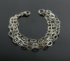 Vintage .925 Sterling Silver Signed MILOR 5 Strand Cable Tennis Bracelet... - $26.99