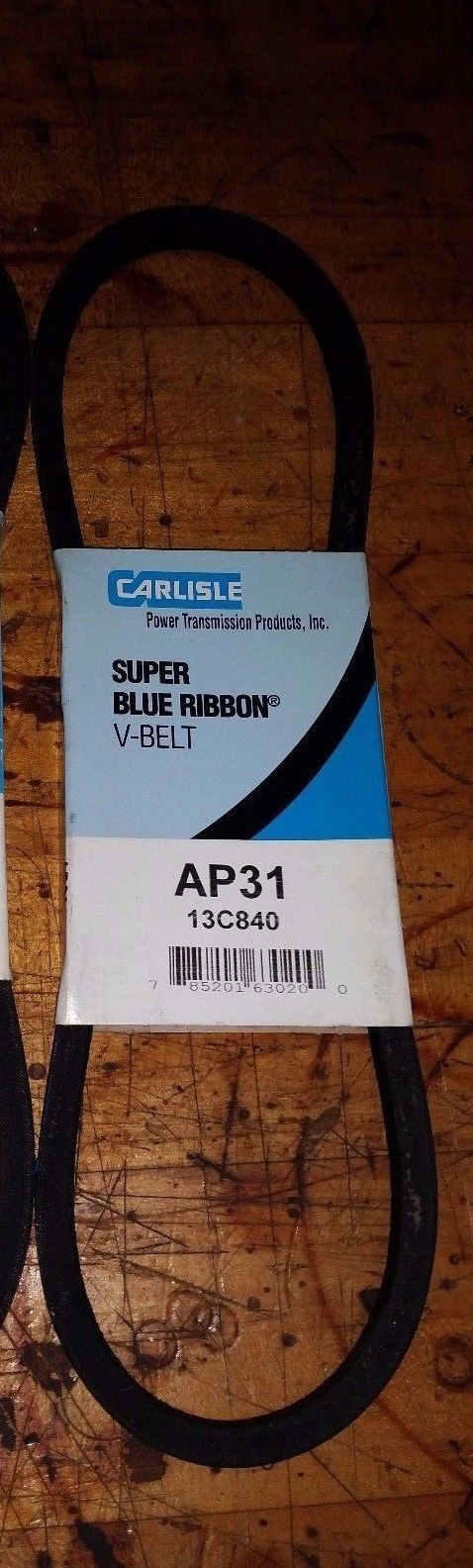 V-BELT VEE BELT AP31 13C840 CARLISLE SUPER BLUE RIBBON