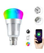 E27 B22 7W RGB+W WiFi APP Smart LED Light Bulb Work With Echo Alexa Goog... - $20.60