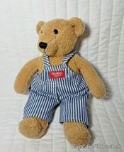 """11"""" Vintage Eden OshKosh B'gosh Teddy Bear Striped Overalls Plush Vestba... - $10.70"""