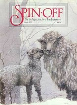 Spin-off magazine Winter 1991: finnsheep, CAMEL DOWN, scarves, tussah triangle - $17.77