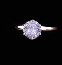 1 - 1/4 CT CZ Diamond Ring Vintage Sterling Engagement Size 5 Uncas Vale... - $95.00