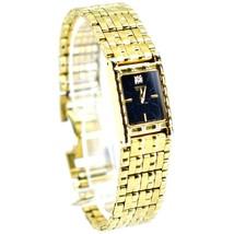Seiko 1N00-6C09 Gold Tone Stainless Rectangle Diamond Accent Quartz Wristwatch image 2