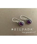 Silpada Sterling Silver Oval Purple Amethyst Earrings W1277 Bezel Set Ra... - $46.04