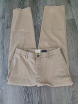 St Johns Bay worry free comfort men's size 34 x 34 pants brown color hig... - $26.76