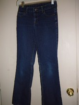 Girl's Jeans Size 12 S Faded Glory Boot Cut Blue Distressed  - $9.90