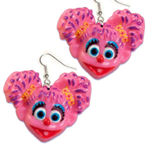 Funky Pink ABBY CADABBY EARRINGS-Sesame Street Character Charms Costume ... - $6.97