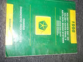 1998 Dodge Durango Truck Chassis Diagnostic Service Shop Repair Manual 98 Oem - $20.91
