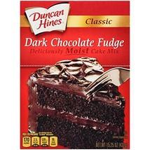 Duncan Hines Classic Cake Mix, Dark Chocolate Fudge, 15.25 oz image 1