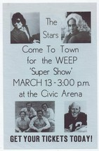 VINTAGE 1977 WEEP Pittsburgh Super Show 5.5x8.5 Advertisement w/ Terry B... - $37.21