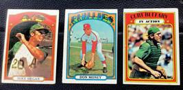 1972 Topps Baseball Cards Lot #632 Hegan, #636 Money, #692 Blefary - $6.43