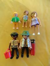 5 Geobra Playmobile 2012 Figures 2 Oambati and Swimsuit mom and kids - $12.99
