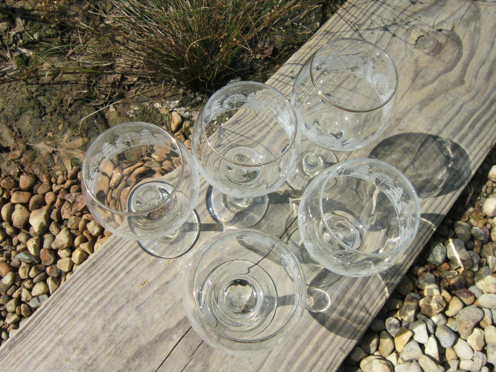 Arby's Winter Goblets, Set of 5 Vintage 1980s Wine Glasses image 6