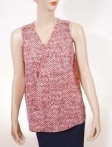 Michael Kors QS54B9S32Z Womens Snake Cross V Neck Zipper Sleeveless Blouse Top - $22.99