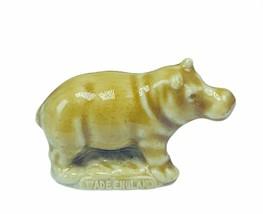 Wade Figurine whimsies whimsy England Red Rose tea Hippopotamus Hippo vt... - $14.46