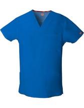 Men's EDS Signature V-Neck Scrub Top, Royal Blue - $14.99